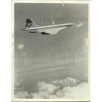 1984 Press Photo Concorde aircraft shown crossing the Atlantic Ocean - lrx01694