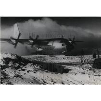1966 Press Photo Hercules of the Air Development Squadron leaves the Antarctica