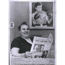 1955 Press Photo Peter Marchegiane,mother heavy weight champion Rocky Marciane