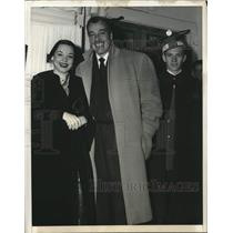 1950 Press Photo Cesar Romero at movie opening with Princess Francesca De Scaffa