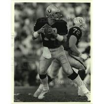 Press Photo Los Angeles Raiders football quarterback Jay Schroeder - sas15164