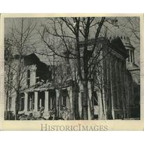 1883 Press Photo Madison Wisconsin Capital Building collapses - mjx54310
