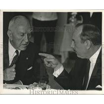 1967 Press Photo Captain Eddie Rickenbacker and Floyd D. Hall - lrx02578
