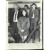 1969 Press Photo Teens Tasmine Fitzgerald & Michael Peparo charged w/ air piracy