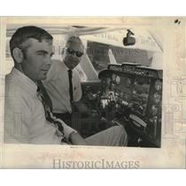 1969 Press Photo George and David West in cockpit of airplane - tua14387