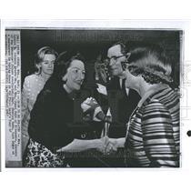 1967 Photo Mrs. Lyndon Johnson Greets Mr/Mrs. James Rob - RRV58991