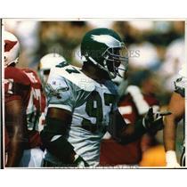 1993 Press Photo Philadelphia Eagles football player, Tim Harris - mjt03379