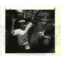 1993 Press Photo Dallas Cowboys fans celebrate a Super Bowl win over Buffalo