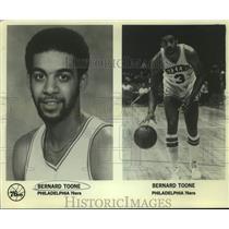 Press Photo Philadelphia 76ers basketball player Bernard Toone - sas15647