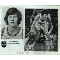 Press Photo Kansas City Kings basketball player Scott Wedman - sas16252