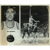 1980 Press Photo Houston Rockets basketball player Rudy Tomjanovich - sas16290
