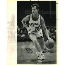 1985 Press Photo San Antonio Spurs basketball player Jon Sundvold - sas15364