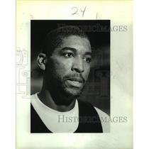 1987 Press Photo San Antonio Spurs basketball player Leon Wood - sas16035