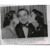 1955 Press Photo Sid Gillman, coach of the Los Angeles Rams and Ram wives