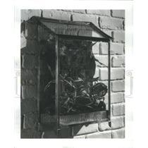 1974 Press Photo Brass terrarium and a rattan shadowbox - RRU76585
