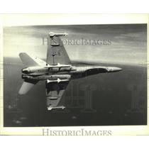 1982 Press Photo McDonnell Douglas CF-18 strike fighter plane up in the air