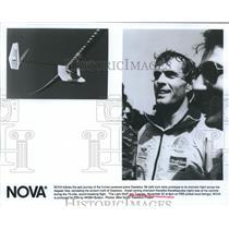 1988 Press Photo Cycling champ Kanelos Kanellopoulos on NOVA flight special