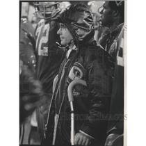 1971 Press Photo Green Bay Packers - Dan Devine, Coach, at Game - mjt06317
