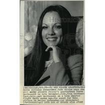 1975 Press Photo JoDe Wilson, fiance of Steve Bartkowski in Dallas, Texas