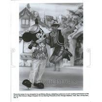 1987 Press Photo Pinocchio Mickey Mouse Walt Disney - RRV61675