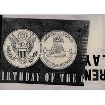 1900 Press Photo Creat Seal of US - RRW70199