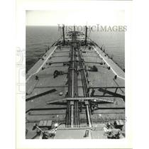 1995 Press Photo Lightering Vessels - The Chevron Nagasaki in Gulf of Mexico