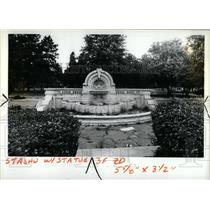 1983 Press Photo Decaying Merrill fountain Palmer park - RRY53913