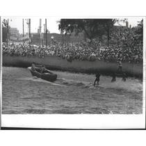 1966 Press Photo Bartlett Water Skiers At Young America On Water At Lakefront