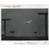 1983 Press Photo Eastern flight 727 departs Houston Intercontinental Airport