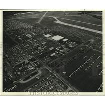 1983 Press Photo Aerial view of the Experimental Aircraft Association at Oshkosh