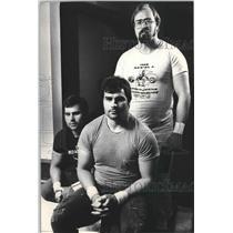1986 Press Photo Milwaukee Olympic weightlifters,Gerald, Gary & Rick Eigenberger