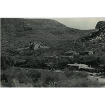 1992 Press Photo view of tourist town Tortilla Flat in Arizona - mjw06356