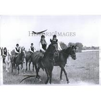 1967 Press Photo Girl Scouts Riding Horses - RRV03683