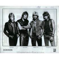 1984 Press Photo Dokken Heavy Metal Hard Rock Band - RRX23269