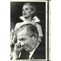 1970 Press Photo Hijacked planes' pilot Capt. Greenwood & stewardess Martindale