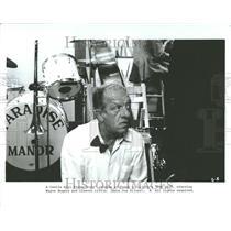1986 Press Photo Joe Silver Wayne Rogers Actor Gig Play - RRV93017