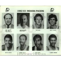 1982 Press Photo Indiana Pacers basketball mug shots - sas17932