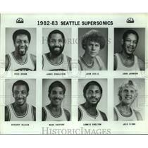 1982 Press Photo Seattle SuperSonics basketball mug shots - sas17828