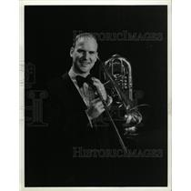 1990 Press Photo Trombonist William Lane - RRW95109