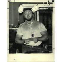 1986 Press Photo Bill Kazmaier, world stongman, Colonie Athletic Club, New York