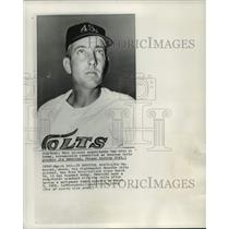 1964 Press Photo Houston Colts baseball pitcher, Jim Umbricht - mjt17364