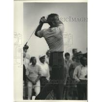 """1970 Press Photo Packers football's Bryan """"Bart"""" Starr of Wisconsin plays golf"""