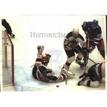 1994 Press Photo Rangers hockey's Stephane Matteau scores winning goal