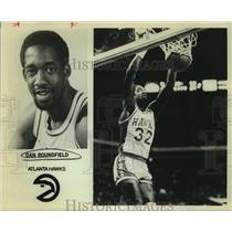 Press Photo Atlanta Hawks basketball player Dan Roundfield - sas17893
