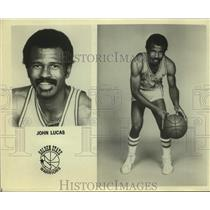 Press Photo Golden State Warriors basketball player John Lucas - sas18130