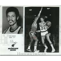 1975 Press Photo Milwaukee Bucks basketball player Dick Garrett - nos12428
