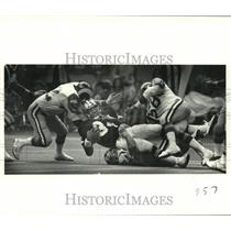1978 Press Photo New Orleans Saints and Los Angeles Rams play NFL football