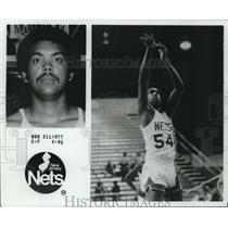 1979 Press Photo New Jersey Nets basketball player Bob Elliott - nos12546