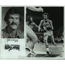 1979 Press Photo San Antonio Spurs basketball player Coby Dietrick - nos13902