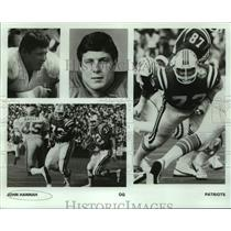 1986 Press Photo New England Patriots football player John Hannah - nos15489